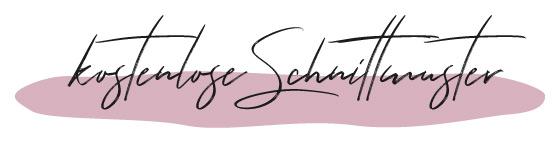 Headline kostenlose Schnittmuster in Schwarz