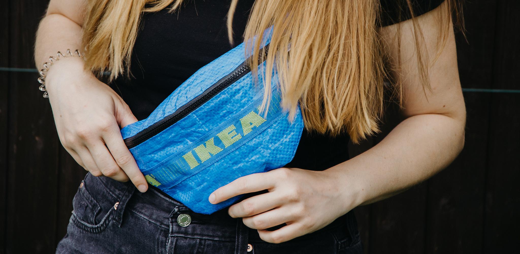 Ikea Bauchtasche als Upcycing Projekt